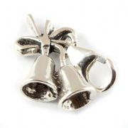 Christmas Bells Sterling Silver Clip On Charm - With Clasp